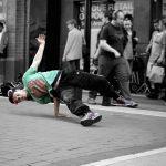 Street dance performer