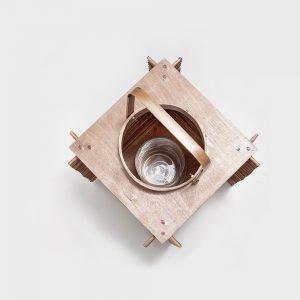Wood Complex Lamp Box
